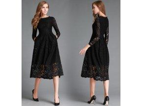 Černé společenské šaty, S, M, L, XL