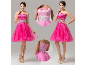 Růžové koktejlové šaty Grace Karin, SKLADEM