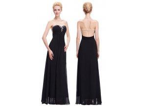 Černé společenské šaty s decentním zdobením, 32 - 44