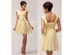 Žluté koktejlové šaty, k DODÁNÍ IHNED