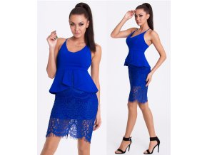 Modré šaty EMAMODA PARIS, RYCHLÉ DODÁNÍ