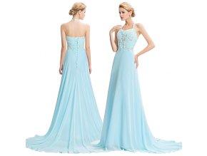 Nebesky modré společenské šaty, SKLADEM