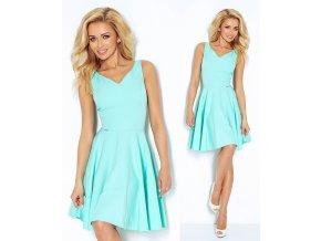 Tyrkysové společenské šaty SAF, S, M, L, XL