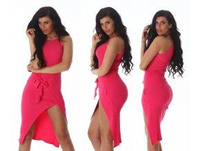 Asymetrické růžové šaty, RYCHLÉ DODÁNÍ