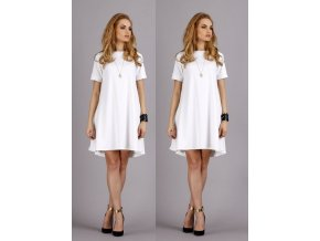 Bílé šaty MAKADAMIA, S - XL, RYCHLÉ DODÁNÍ