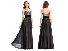 ČERNÉ společenské šaty s krajkou, 32 - 42