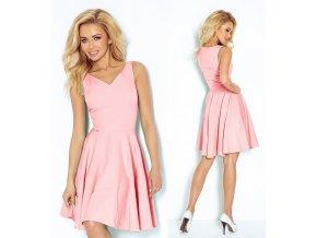 Růžové společenské šaty SAF, S, M, L, XL, RYCHLÉ DODÁNÍ