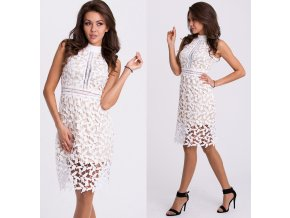 Bílé krajkové šaty EMAMODA PARIS, RYCHLÉ DODÁNÍ