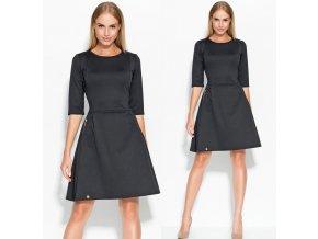 Černé společenské šaty MAKADAMIA