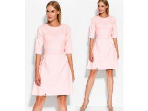 Růžové společenské šaty MAKADAMIA