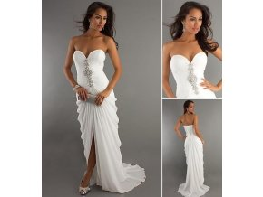 * LUXUSNÍ bílé večerní šaty, 34, 36, 38, 40, 42, 44