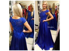 Společenské šaty Christine Royal Blue, k DODÁNÍ IHNED