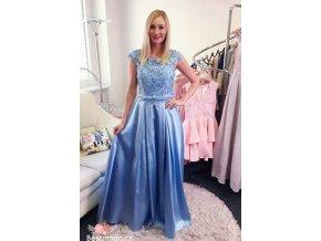 Společenské šaty Christine Icy Blue, k DODÁNÍ IHNED