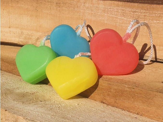 mydlo na provazku srdce