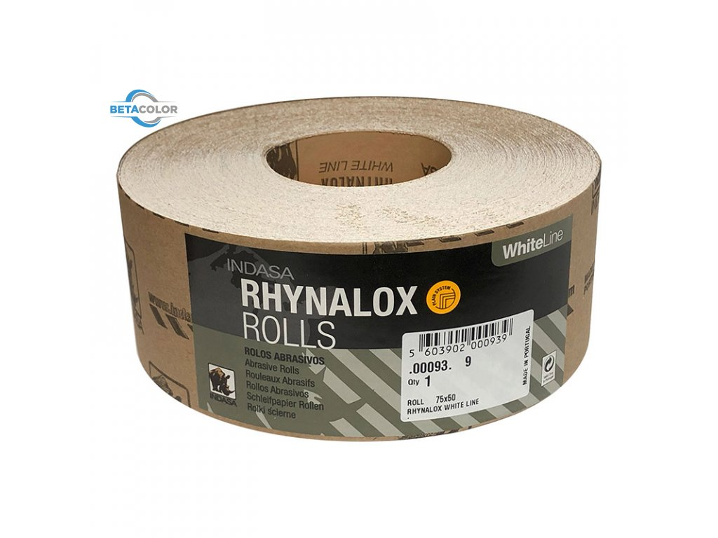 INDASA Rhynalox White Line 75mm x 50m