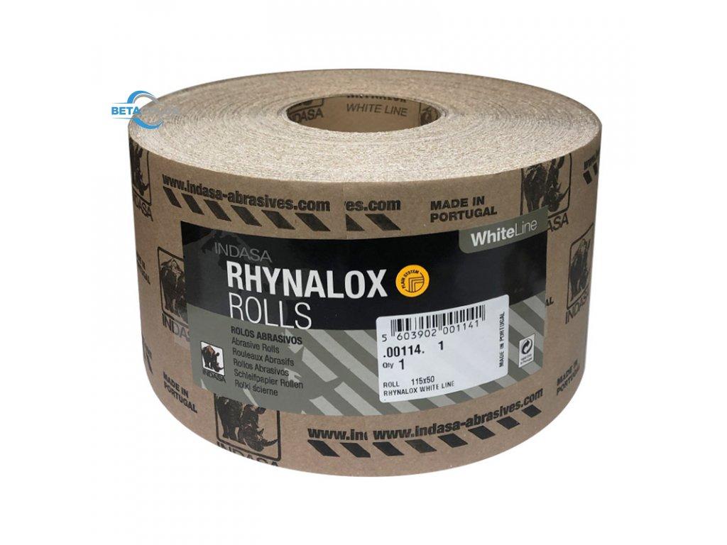 INDASA RHYNALOX White Line 115mm x 50m
