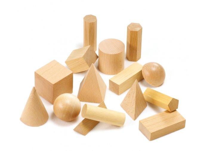 Wooden Geometric Solids / Dřevěné geometrické tvary