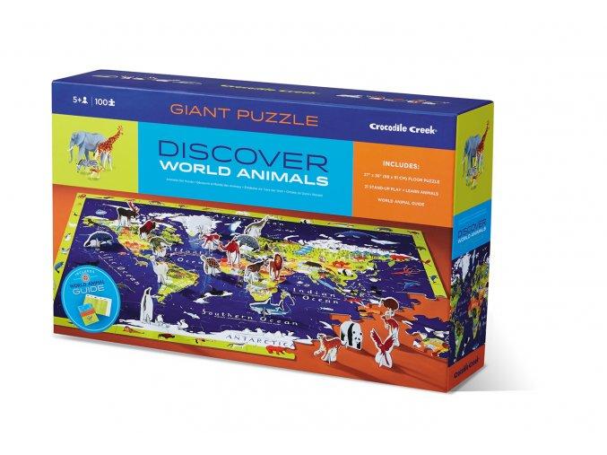 Discover Puzzle World (100 pcs) / Discover puzzle Svět (100 ks)