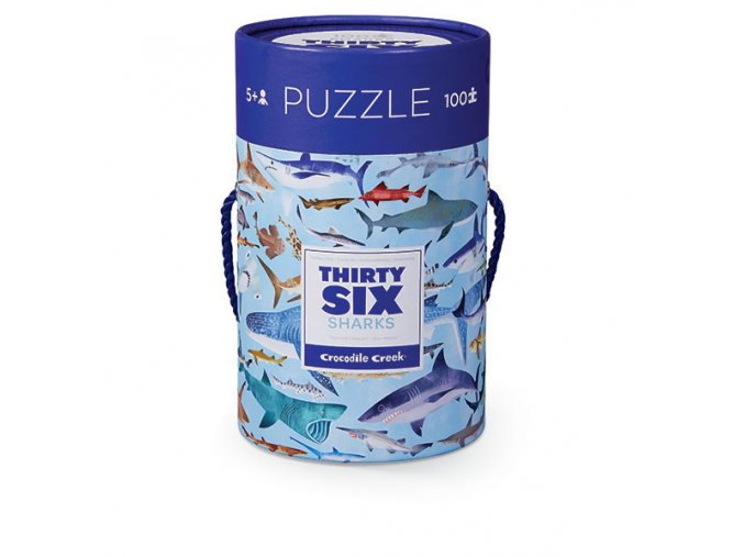 Puzzle Canister - 36 Sharks (100 pcs)