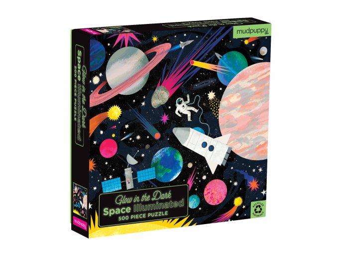 Glow in the Dark Puzzle Space Illuminated (500 pc) / Svíticí puzzle - Vesmír (500 ks)