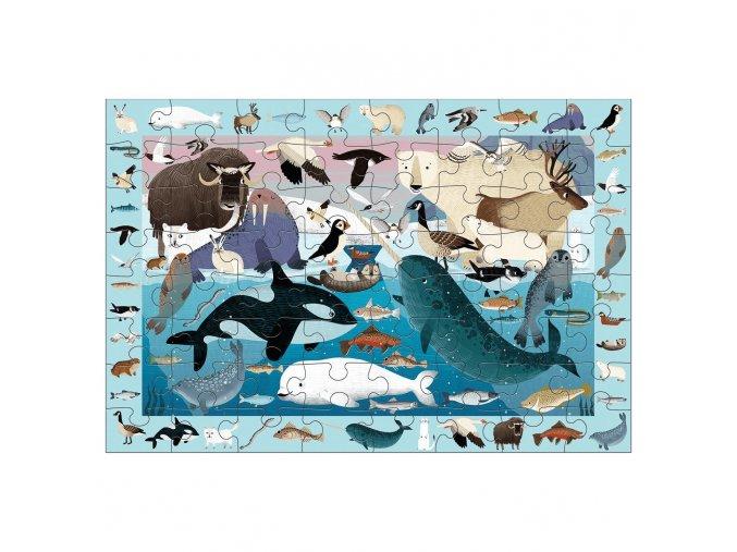 Search & Find Puzzle - Arctic Life (64 pcs)