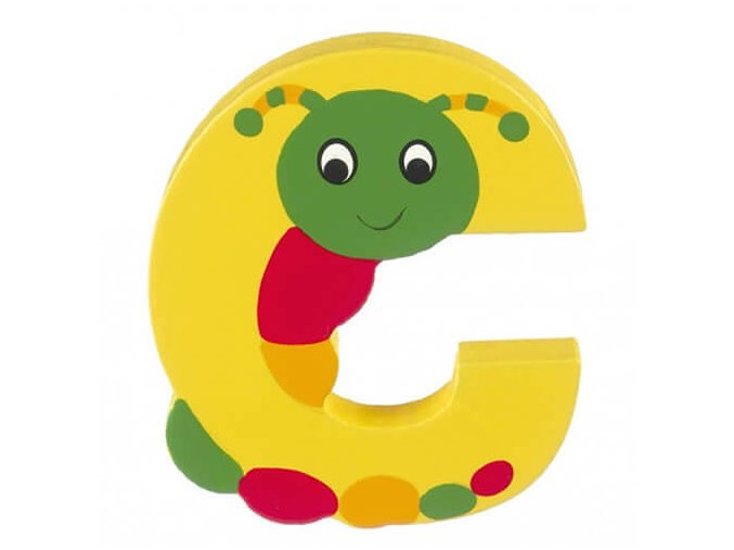 OTTC189 orange tree toys wooden letter c for caterpillar