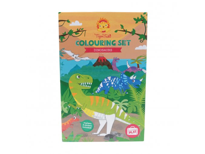 3333 colouring set dinosaur dinosauri