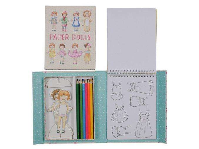4998 2 papirove panenky retro paper dolls kit