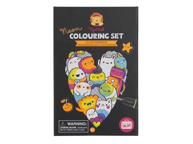 Neon Colouring Sets - Glow Friends