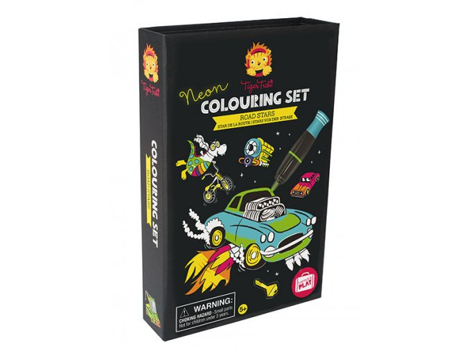 Neon Colouring Sets - Road Stars
