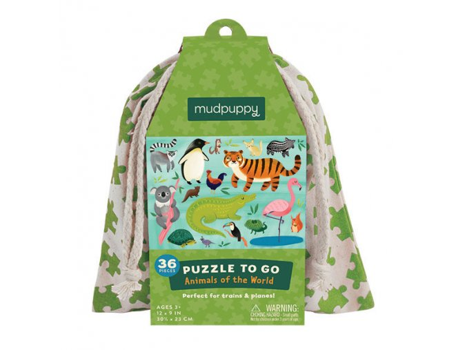Puzzle To Go - Animals Of the World (36 pcs)