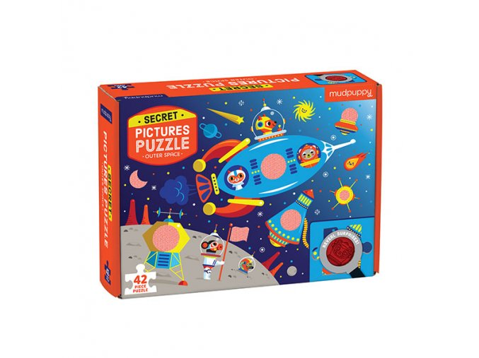 Puzzle Secret Picture - Outer Space (42 pcs)