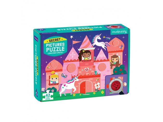 Puzzle Secret Picture - Unicorn Castle (42 pcs)