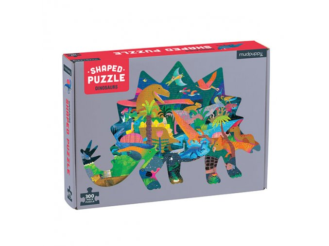 Shaped Puzzle - Dinosaurs (300 pcs)