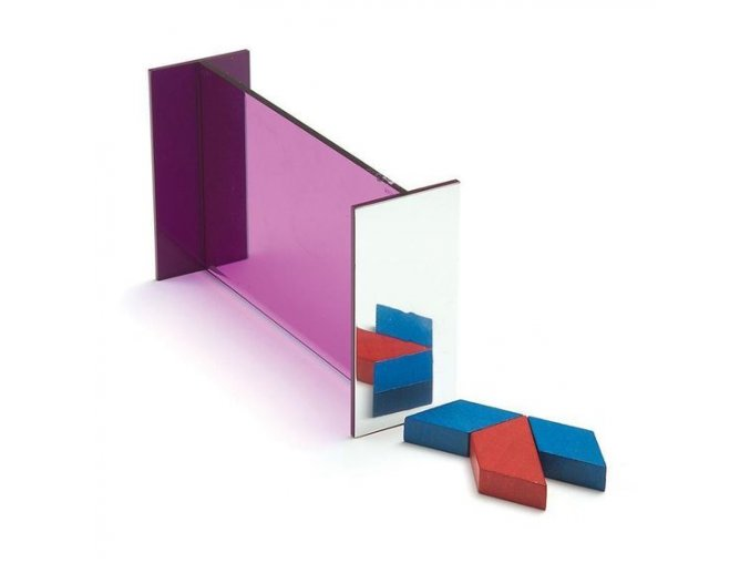 "Geomirror(1), 6"" X 4"", Purple"