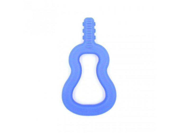GUITAR Baby žvýkací pomůcka Soft Královská modř