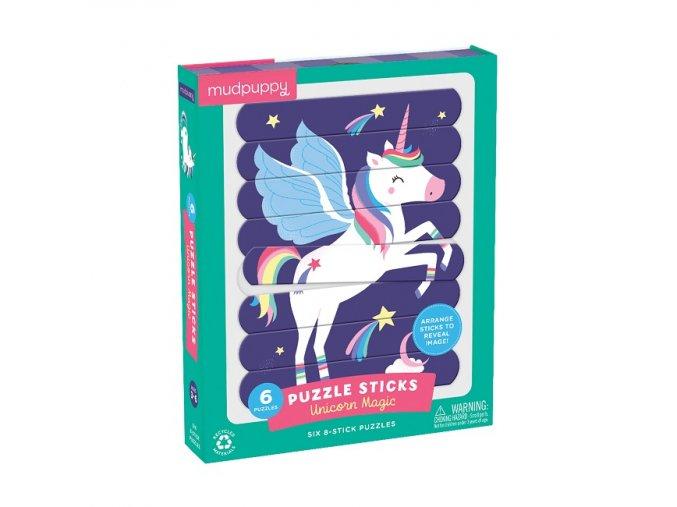 Puzzle Sticks - Unicorn Magic (24 pc) / Puzzle Sticks - Kouzlo jednorožce (24 ks)