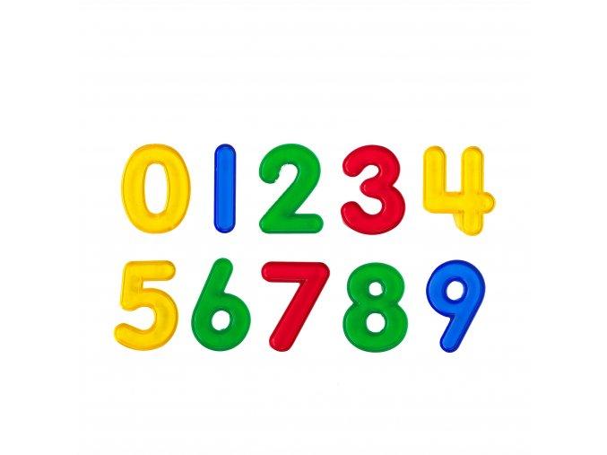 Transparent Number Set 5cm / Čísla průhledná 5 cm, sada