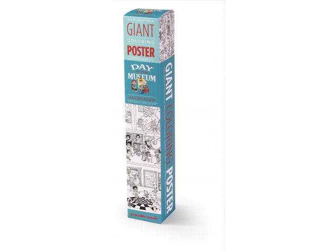 Giant Coloring Poster Box Art Museum