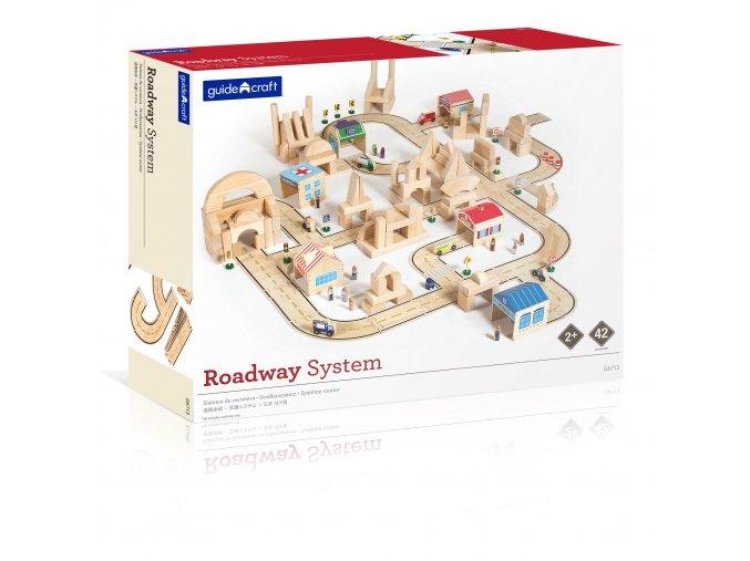 Roadway system - 42 PC. Set / Silniční systém - 42 ks set