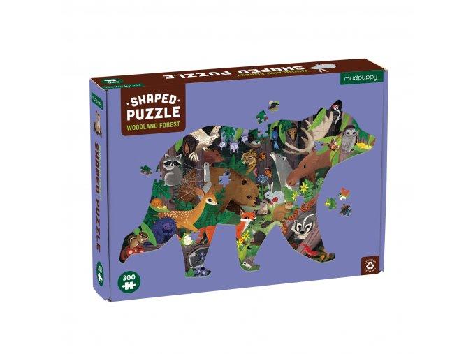 Shaped Puzzle - Woodland Forest (300 pc) / Tvarované puzzle - Z lesa (300 ks)