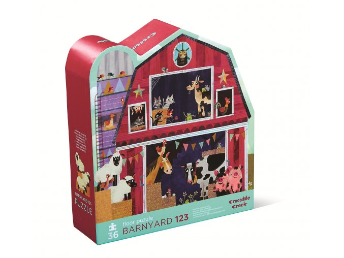 Shaped Puzzle - Barnyard 123 (36 pc) / Puzzle - Dvorek 123 (36 ks)