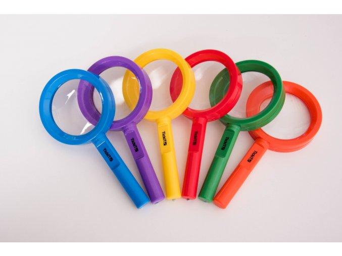 Rainbow magnifiers 6 pc / Duhová lupa 6 ks
