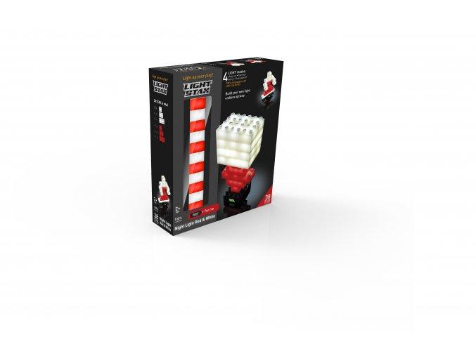 Light Stax  rozšiřující set - bilá a červená 38 ks