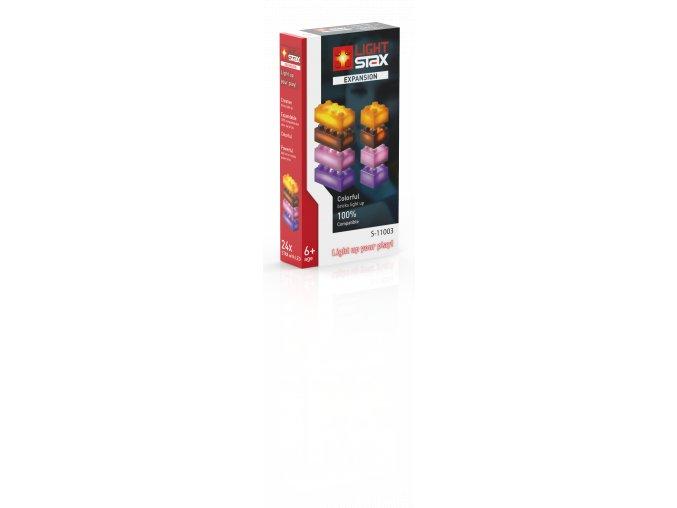 Light Stax rozšiřující set - oranžová, hnědá, fialová, růžová