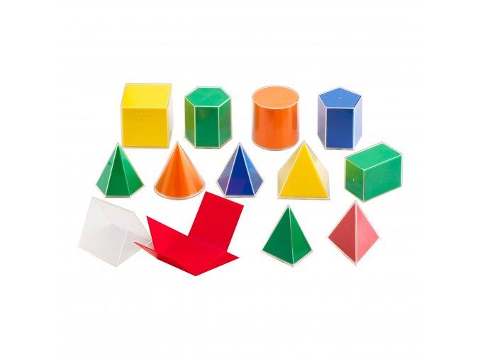 Folding Geometric Solids 2D/3D 12PC / Skládací geometrické tvary, set 12ks