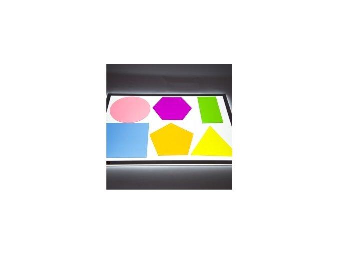 Průhledné barevné tvary velké (6 ks) / Jumbo colour Mixing Shapes (6 pc)