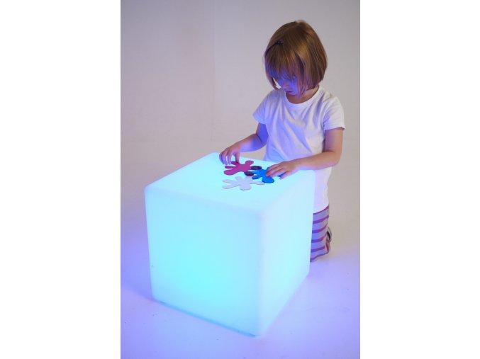 Sensory Mood Light cube (1 pc) / Senzorická světelná kostka (1 ks)