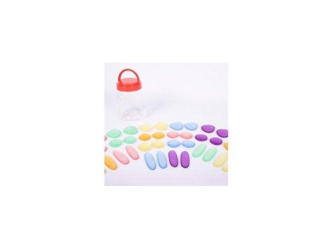 Junior Rainbow Pebbles clear / duhové kamínky pro nejmenší