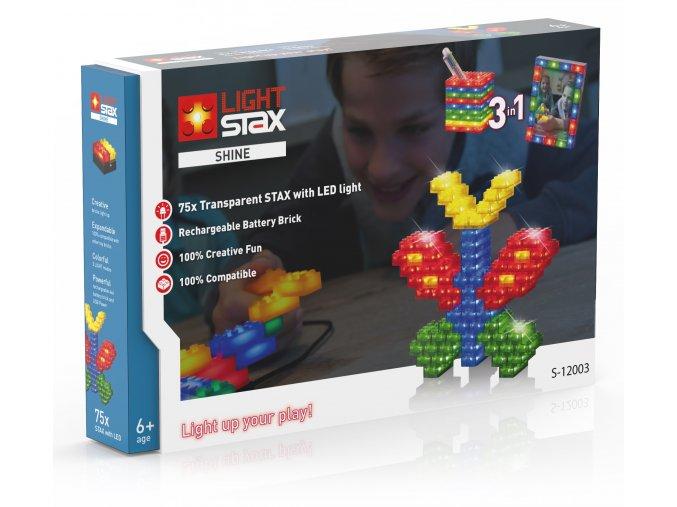 Light Stax Shine - 3 v 1 - 75 svítících kostek